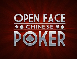 Open-face Chinese poker - logo