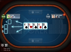 Open-face Chinese poker - tutorial screen 1