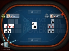 Open-face Chinese poker - tutorial screen 4