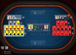 Open-face Chinese poker - tutorial screen 6