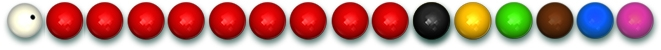 Balls for playing snooker