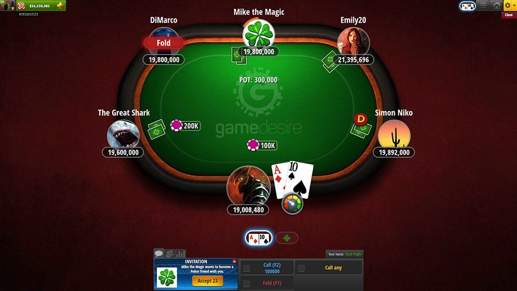 Free Online Flash Poker Game