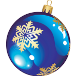 Blue christmas ornament - Soldout