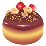 Doughnut with fruits