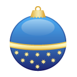 Cobalt ornament