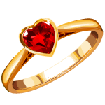 Red diamond ring - Soldout