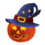 Pumpkin in hat