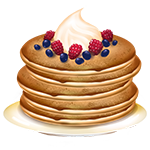 Pancake with berries - Soldout
