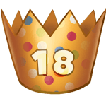 18 Birthday Crown